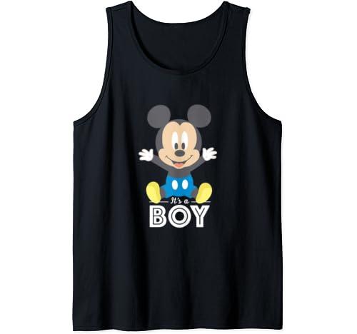 Disney Mickey Mouse It's A Boy Baby Shower Tank Top