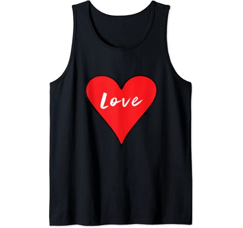 Love Big Heart Red Valentine's Day Gift Tank Top