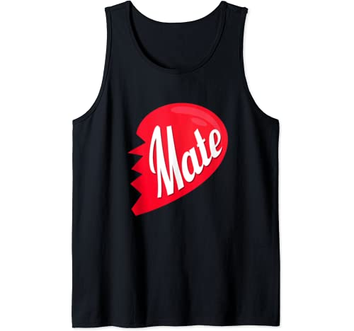 Mate Heart Cute Funny Couples Matching Valentine's Day Girl Tank Top