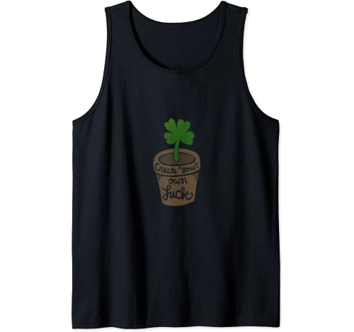 Create Your Own Luck Fun Lucky Shamrock Tank Top