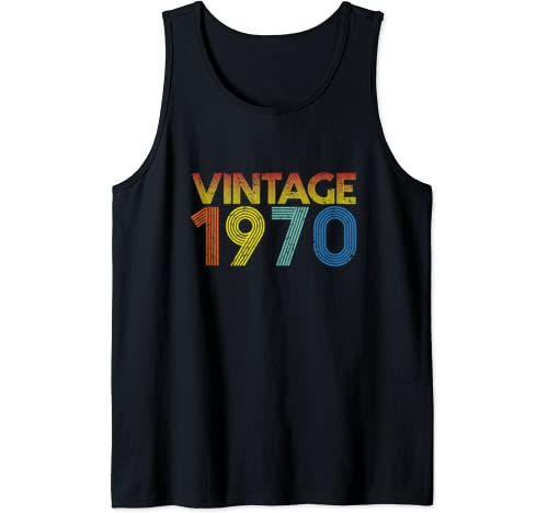 Vintage 1970 50th Birthday Gift For Men & Women 50 Years Old Tank Top