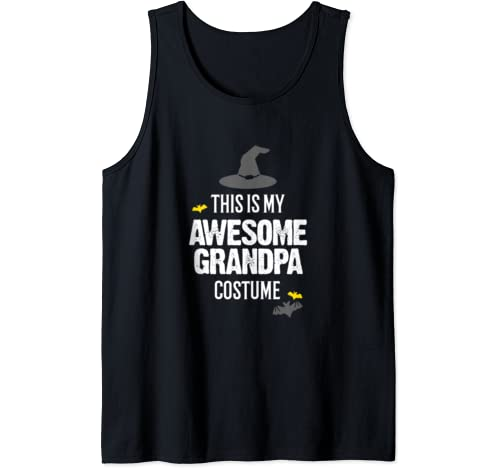 Mens This Is My Awesome Grandpa Costume Halloween Tank Top