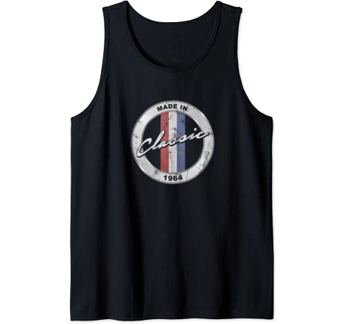 Vintage Hot Rod Classic Made In 1964 Retro 56th Birthday D4 Tank Top