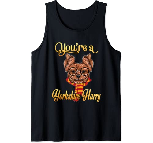 Dad Mom You're A Yorkshire Harry Dog Potter Glasses Scarf Tank Top