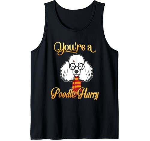 Daddy Mommy You're A Poodle Harry Dog Potter Glasses Scarf Tank Top