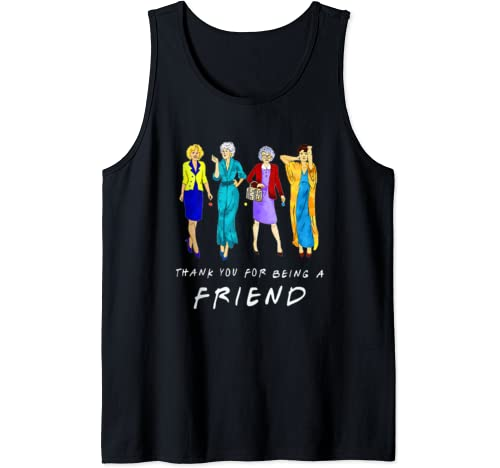 Thank You For Being A Golden Friend Girls Gift Mother's Day Tank Top