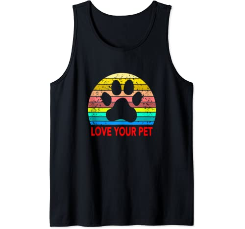 Love & Save Your Pets Animals Cats & Dogs Vintage Sunset Tank Top