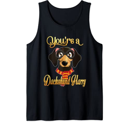 Dad Mom You're A Dachshund Harry Dog Potter Glasses Scarf Tank Top