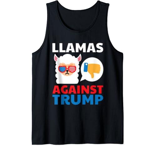 Llamas Against Trump Anti Trump 2020 Gift Tank Top