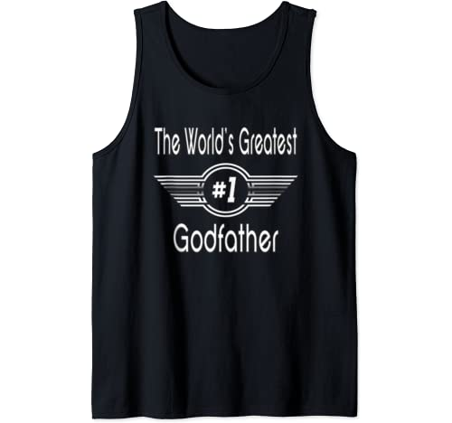 Mens Best Godfather Ever Gifts   World's Greatest Godfather Gift Tank Top