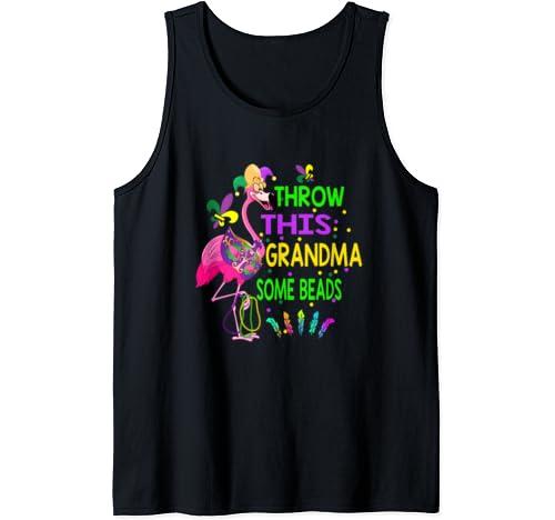 Throw This Grandma Some Beads Mardi Gras T Shirt Tank Top