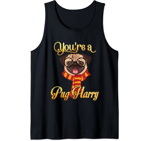 Daddy Mommy You're A Pug Harry Dog Potter Glasses Scarf Tank Top