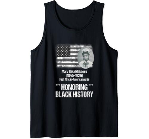 Black History Tshirt Featuring 1st African American Nurse Tank Top