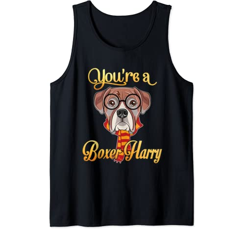Daddy Mommy You're A Boxer Harry Dog Potter Glasses Scarf Tank Top