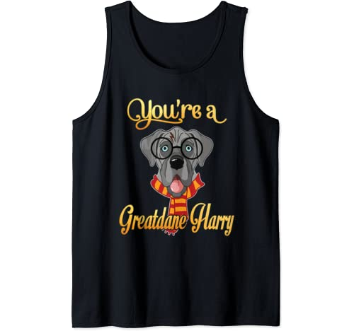 Dad Mom You're A Greatdane Harry Dog Potter Glasses Scarf Tank Top
