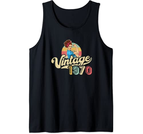 Vintage 1970   50 Years Old Gift   50th Birthday Tank Top