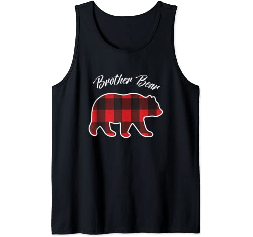 Brother Bear Matching Family Christmas Red Plaid Pajama Gift Tank Top