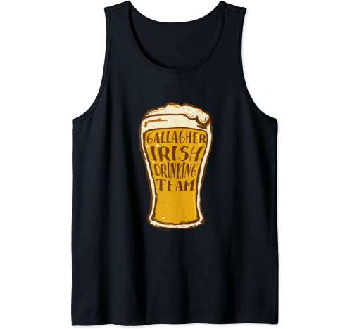 Gallagher Irish Drinking Team Funny St. Patrick's Day Gift Tank Top
