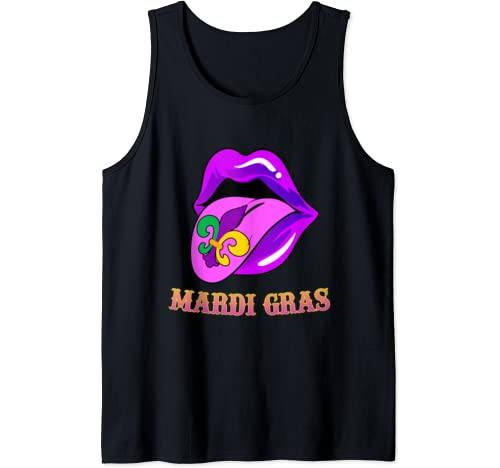 Funny Cute Lips Mardi Gras Gift Boy Girl Tank Top