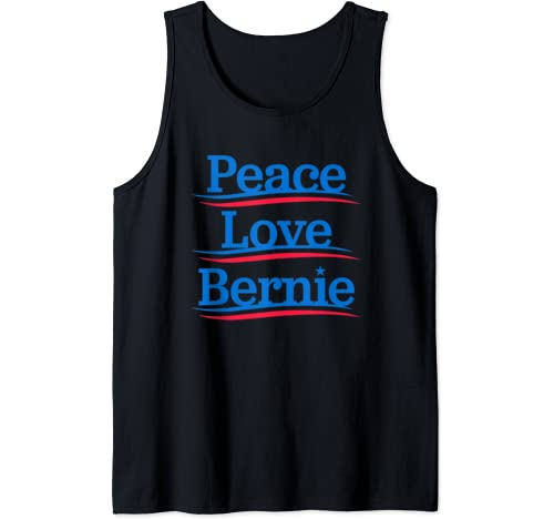 Peace Love Bernie   Bro Sanders Democrat Bern Anti Trump Tank Top
