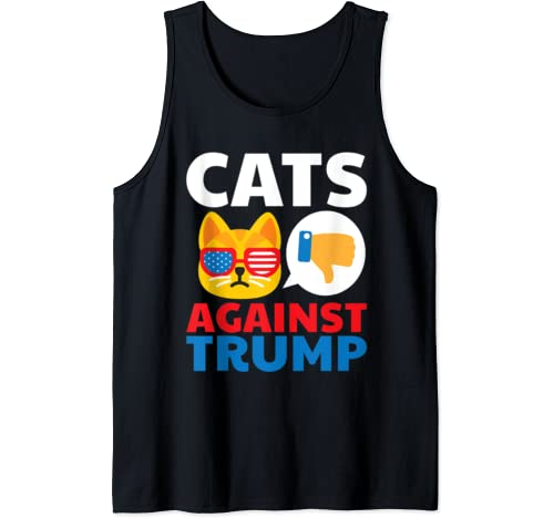 Cats Against Trump Anti Trump 2020 Gift Tank Top