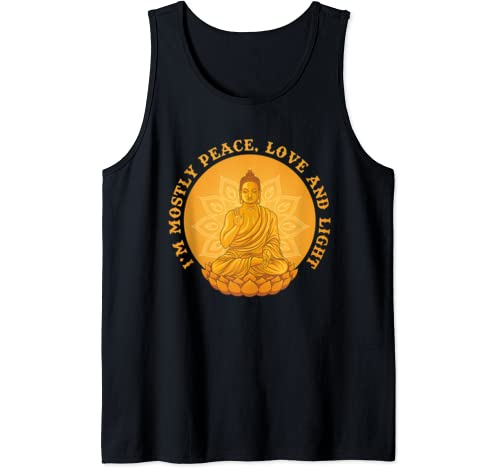 I'm Mostly Peace Love And Light Tank Top