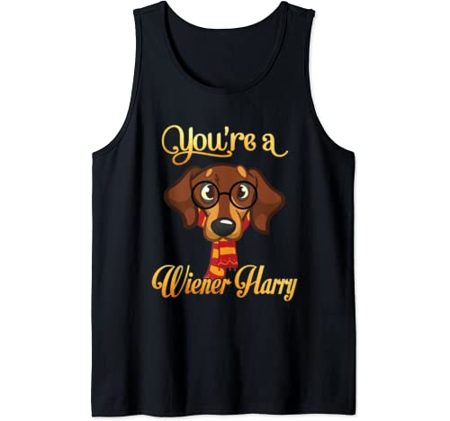 Daddy Mommy You're A Wiener Harry Dog Potter Glasses Scarf Tank Top
