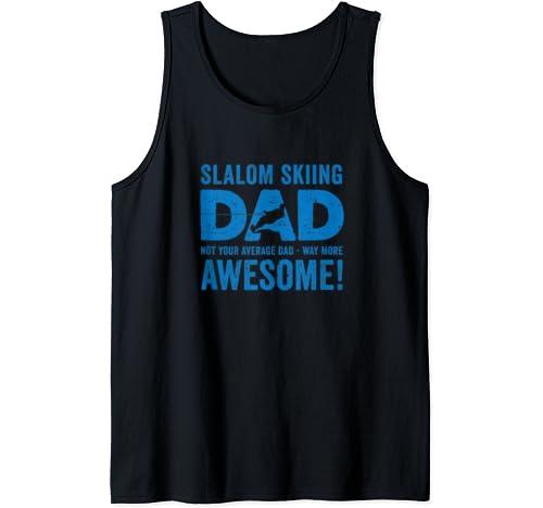 Funny Father's Day Slalom Waterski Wakeboard Tank Top