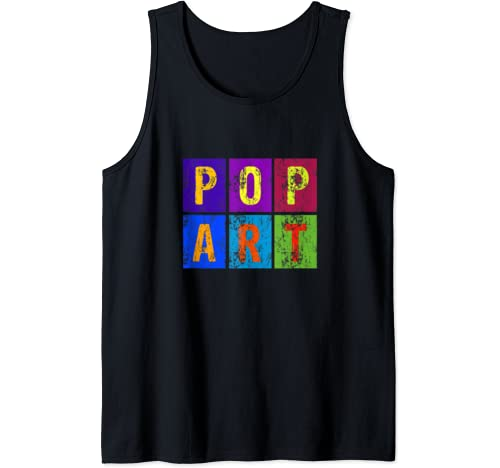 Awesome Retro Vintage Distressed Pop Art Graphic Tank Top
