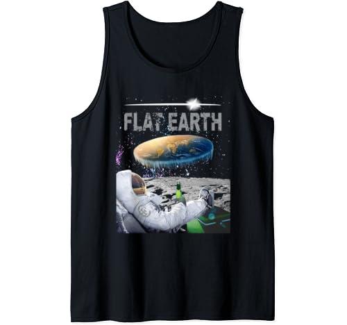 Flat Earth Conspiracy Nasa Lies Astronaut No Curvature Tank Top