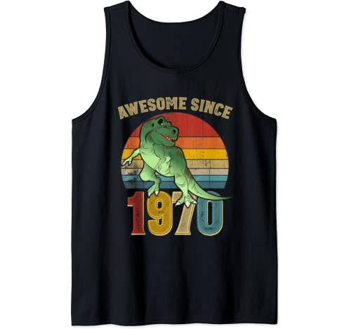 Awesome Since 1970 Mens Womens Vintage 50th Birthday Gifts Tank Top