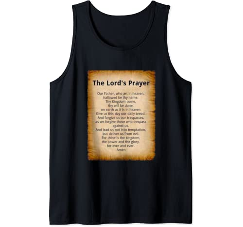 T Shirt Our Father's Prayer By Superheroi Tank Top