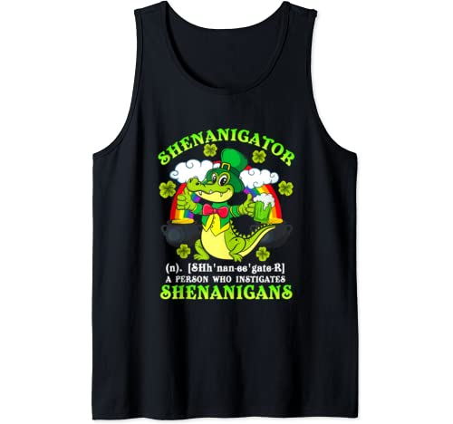 Shenanigator Definition Shenanigans Funny St Patrick's Day Tank Top