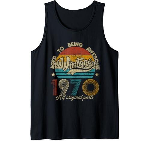 Classic 50th Birthday Gift Tshirt For Men Women Vintage 1970 Tank Top