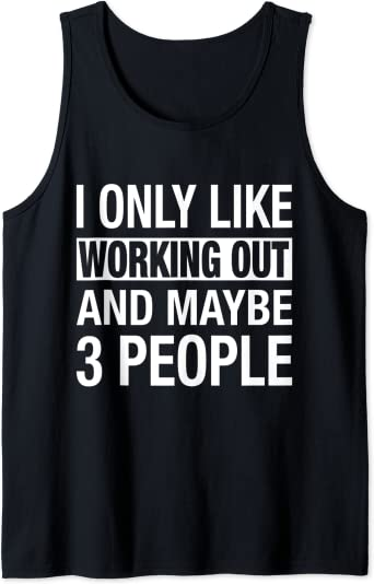 Men/'s tank top funny saying people person crazy sleeveless tee muscle shirt