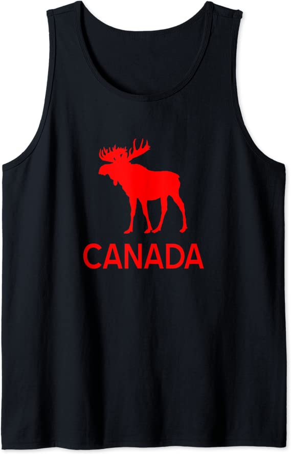 Canada Moose Canadian Souvenir Tank Top