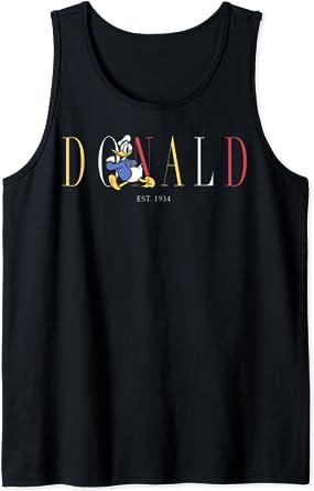 Disney Donald Duck Est. 1934 Donald Colorful Text Débardeur