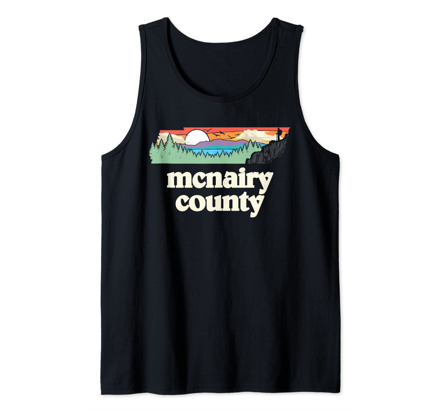 Mcnairy County Tennessee Outdoors Retro Nature Graphic Shirts