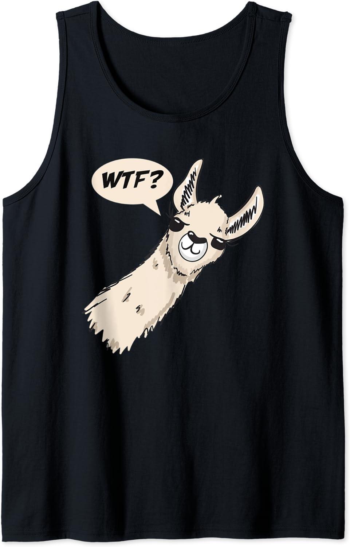 Llama say WTF? Funny llama drawing where's the food Tank Top