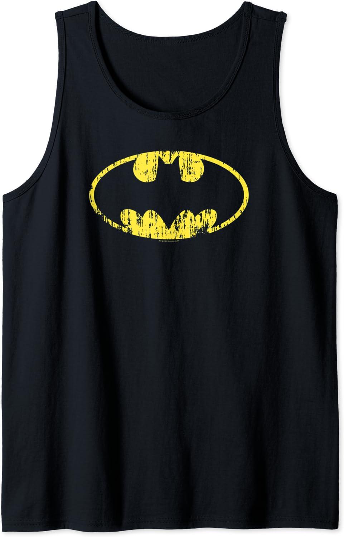 Batman Recommended Classic Overseas parallel import regular item Logo Tank Distressed Top