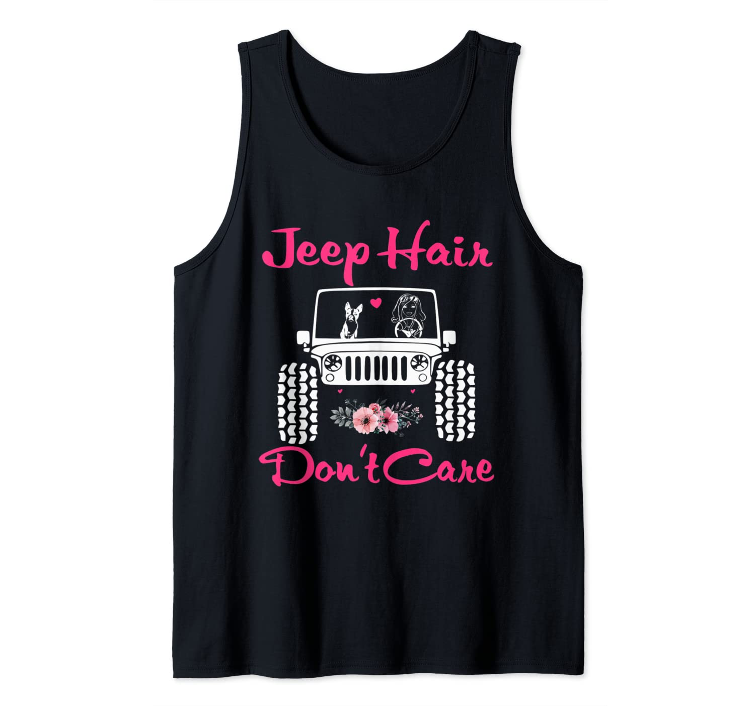 Cute Jeep-Hair Don't Care Jeeps Girl Jeeps Dog Women Jeeps Tank Top