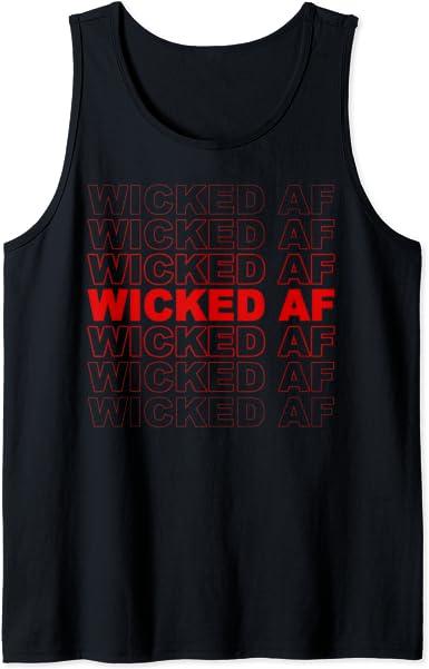 Halloween Tank Top Black Wicked Tank Top