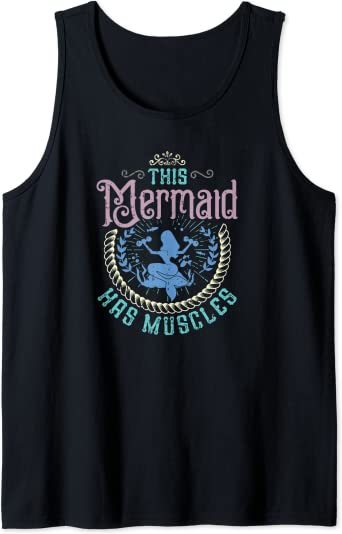Workout Shirts Yoga Shirt Mermaid Shirt Running Gifts Lifting Tank Workout Tanks For Women Mermaid With Muscles Workout Motivation