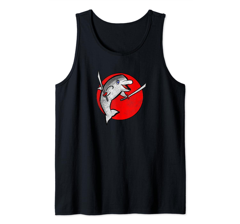 Amazon.com: Retro Ninja Dolphin Design by Turbo Volcano Tank ...