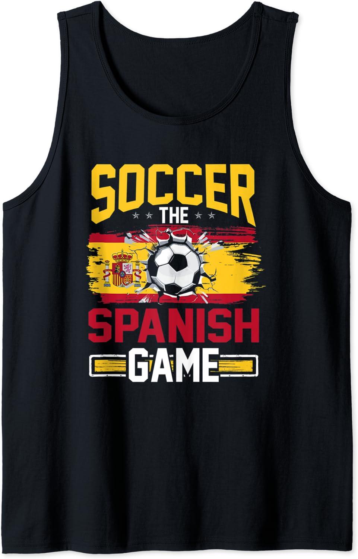 Fußball Tee für Männer The Spanish Game Spain Tank Top