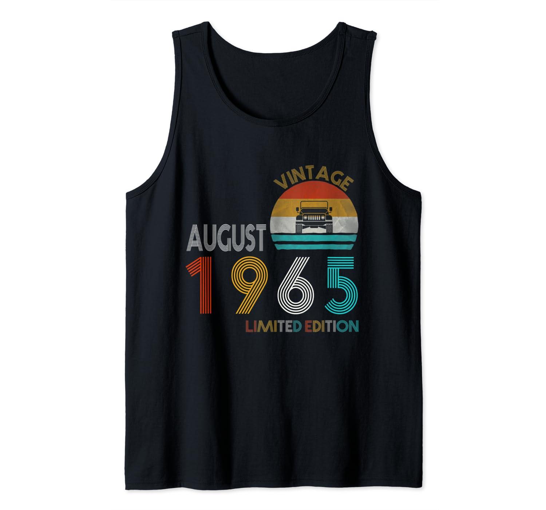 Retro Classic Vintage Jeeps August 1965 54th Birthday Jeeps Shirts
