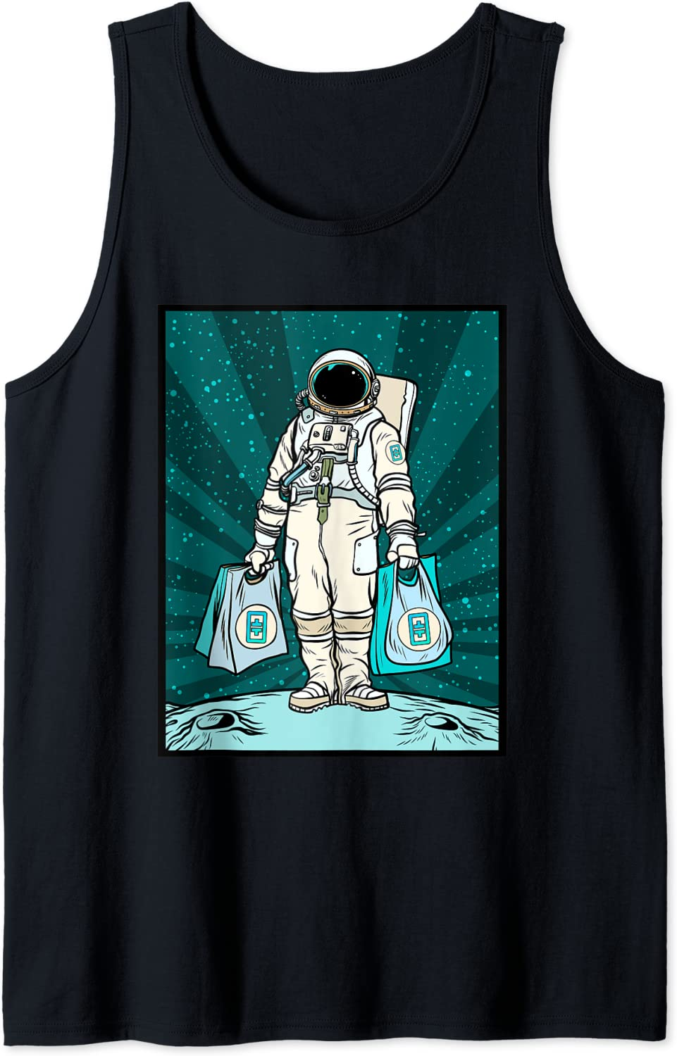 Crypto Currency Talk - To The Moon Theta Space Man Merch Tank Top