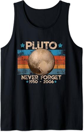 Vintage Never Forget Pluto - Planète Pluton Astronomie Space Débardeur