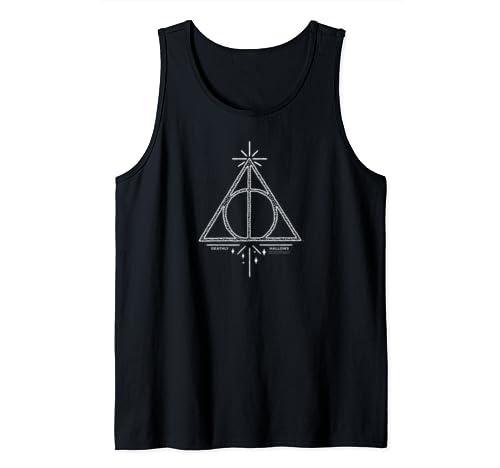 Harry Potter Deathly Hallows Line Art Tank Top