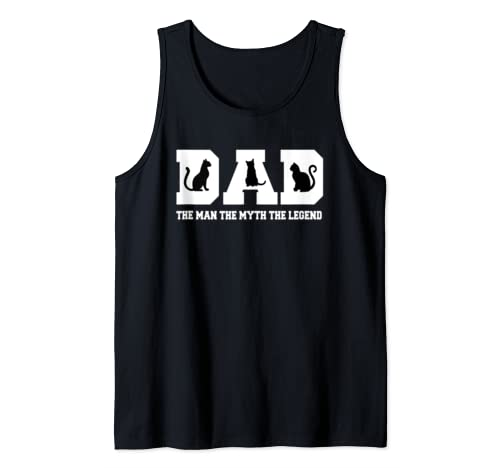 Mens Dog Dad The Man The Myth The Legend Funny Dog Lover T Shirt Tank Top